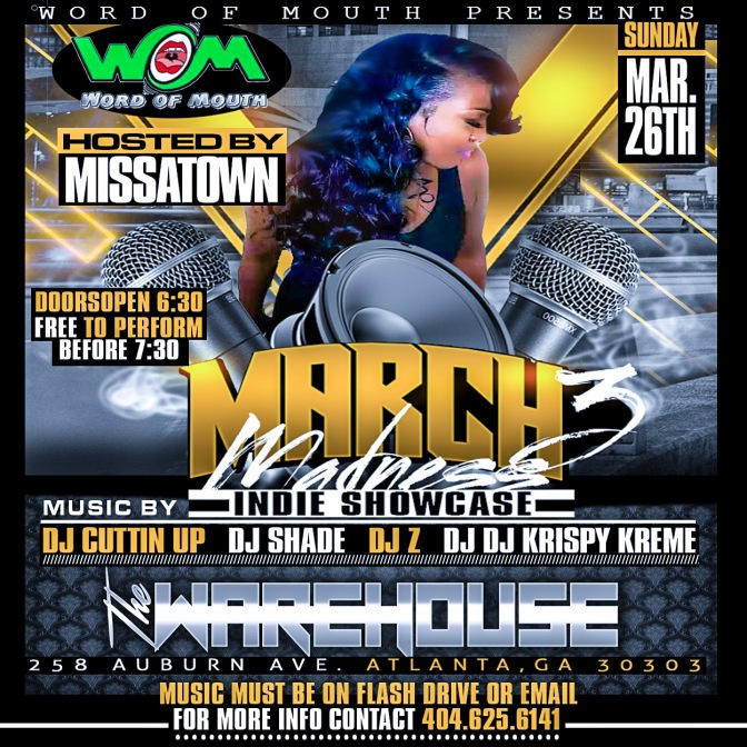 [Event] MissAtown takes over the #MarchMadness Showcase (Sun 3/26)